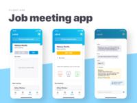 Job meeting app