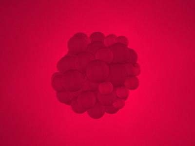 Blobs threejs spheres ambient occlusion webgl