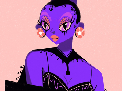 Purple rain🕺🏼 colors cartoon female woman infographic design purple character