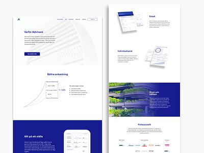 Why Advinans? (Swedish startup) chart graph portfolio startup marketing investments fintech finance economics