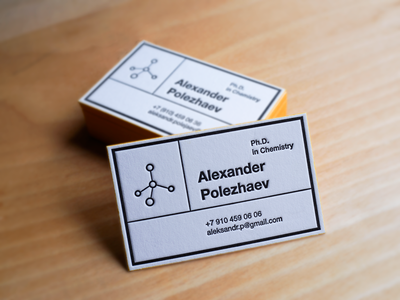 Phd in chemistry business card by dmitrii polezhaev dribbble phd in chemistry business card colourmoves
