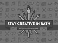Creative bath banner