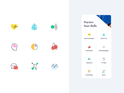 icons set for Teaching Medicine category pics graphic icons healthcare branding icon set icons