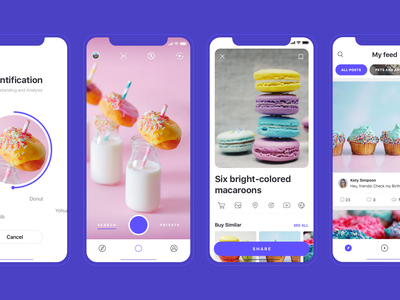 Image Recognition App ui ux loading feed categories filters application visual search image recognition