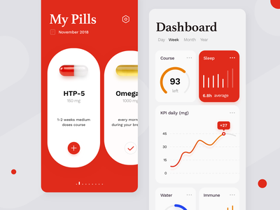 Pharmaceutical Concept settings cards application concept healthcare app