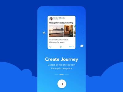 Travel app onboarding screens