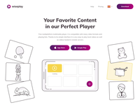 Wiseplay product landing page