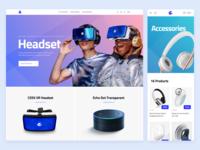 Tech e-commerce website design