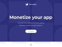 Monedata landing page