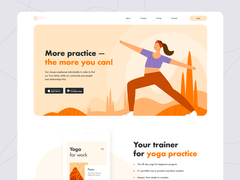 Yoga Product page download exercise asana woman girl hero banner product page landing page yoga