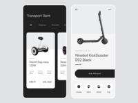 Electro transport rent app