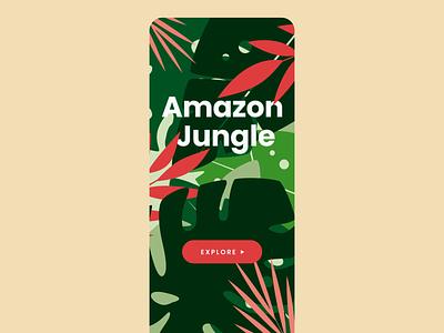 Jungle intro animation bird jungle start screen leaf explore splash screen jungles tour booking guide explore illustration animation motion rainforest