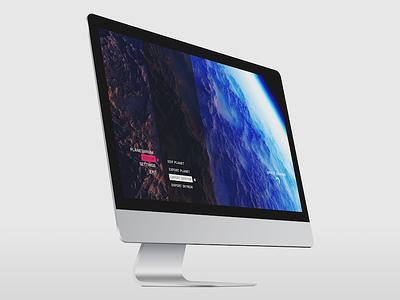 SpaceEngine UI Concept 2 space engine game ui ui