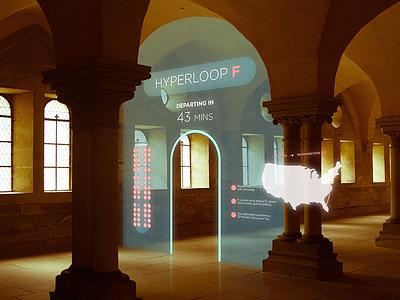 AR Concept - Hyperloop Terminal ar ui