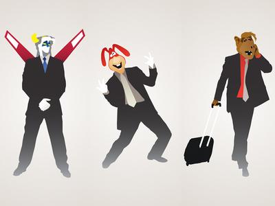 80s Pop Culture Icons Illustration