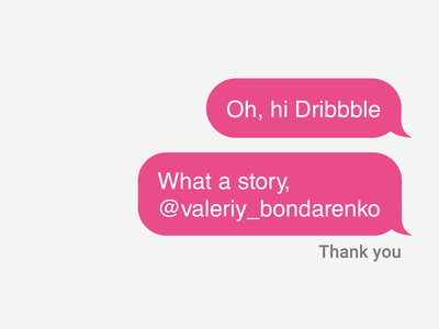 Oh, Hi Dribbble