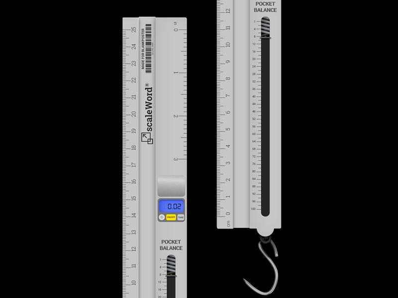 Scale ruler scale blankposter vector illustration design