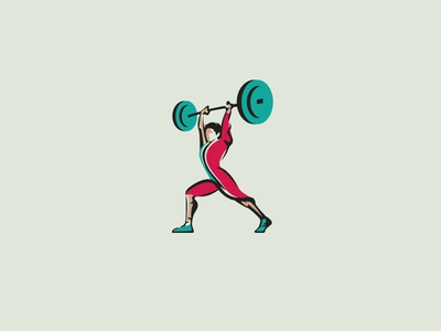 Weightlifter illustration weightlifter weight man championship weightlifting