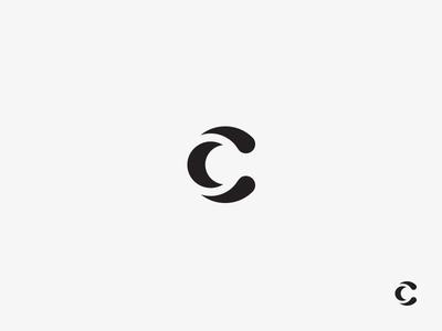 C letter logomark typography symbol logo mark icon letter c