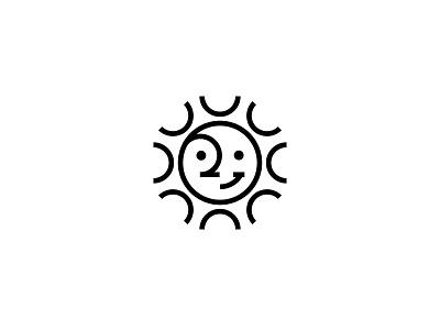 Sun mark symbol nature sunset sunrise icon logo sun