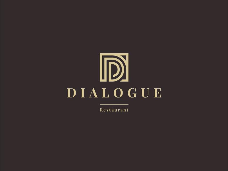 Dialogue Restaurant mark symbol dialogue restaurant logo restaurant branding logotype design logo