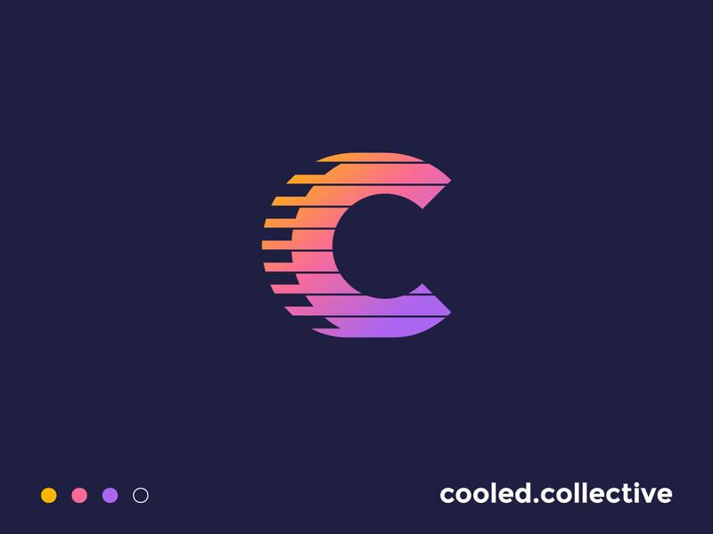 Cooled Collective | Logo Design identity branding logo design instagram page instagram car logo identity branding and identity neon gradient mark icon symbol branding collective car c letter c logo