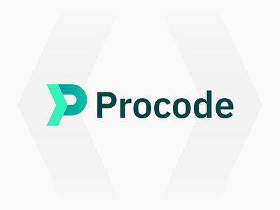 Procode | Logo Design software company identity branding logodesign logotype branding identity code programming codepen company marketing sell software development green p logo code developer developing logo