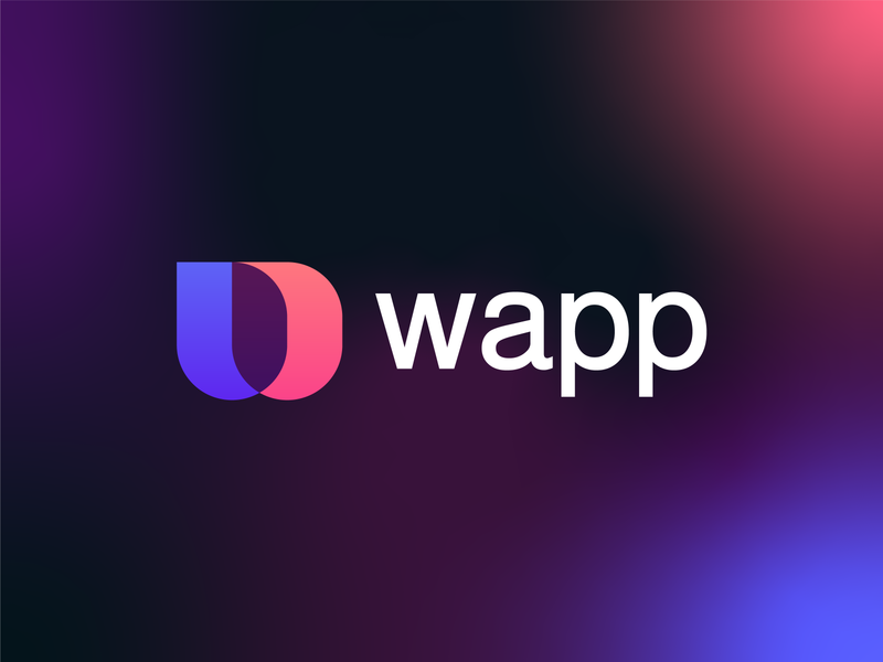 Wapp | Logo design identitydesign abstract minimalist modern mobile app gradient branding identity technology tech icon design app aicon app ios android icon web w logo letter