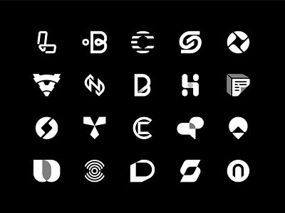 Logofolio 2020 | Part one 2020 trend monocolor black and white branding and identity 2020 logofolio logo design branding logotype identity branding logo design identity branding