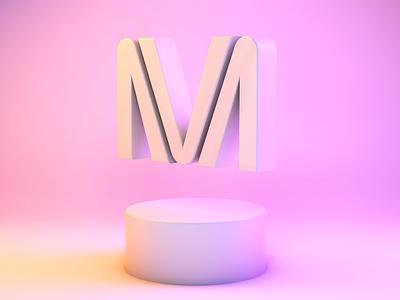 VM | 3d logo mark logo mark icon gradient logodesign logotype logo design c4d logo design branding branding and identity identity branding identity 3dlogo 3d
