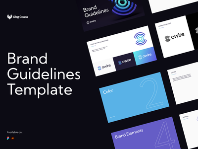 Owire   Branding Guidelines Templates templatedesign template branding and identity brand identity logo design branding logotype identity branding identity logo design branding