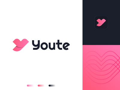 Youte | Logo design couple app logo dating date lips 2d logo logodesign branding and identity logo design branding logotype identity branding identity logo design branding