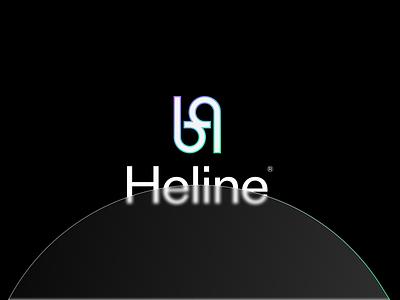 Heline | Logo design financial financial app branding design gradient art direction logodesign branding and identity logo design branding logotype identity identity branding logo design branding