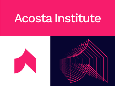 Acosta Institute | Logo Design identity branding tech startup learning school study pattern for sale unused branding design grid a logo a letter logo a letter institute book wave logo design branding