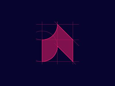 Acosta Institute | Logo Design identity branding tech startup learning school study pattern for sale unused branding design grid a logo a letter logo a letter institute book wave logo design branding