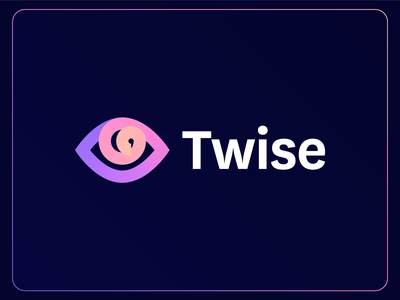 Twise   Logo Design 2d logodesign identity branding pattern swirl gradient logotype app artificial intelligence eye ai assistant ai logo eye logo logo design branding