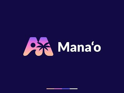 Mana'o   Logo design beach palm tree sun logo wave haway palm logodesign branding and identity logo design branding identity identity branding logo design branding