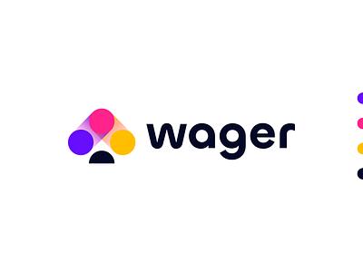 Wager | Logo Design saas tech logo design logo branding spades spade digital crypto game gaming igaming