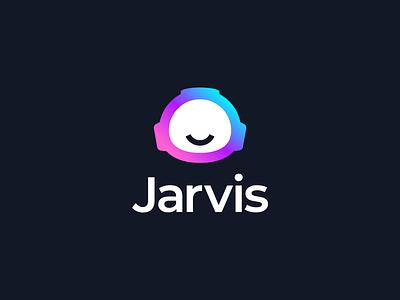 Jarvis | Final Logo marketing wave pattern logo design branding identity branding digital tech saas logo design branding content writing robot artificial intelligence ai
