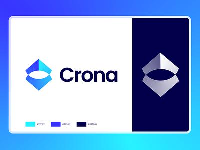 Crona | Logo design identity branding and identity logotype design crown logo unused for sale saas branding crypto logo crypto saas logo design branding identity branding logo design branding