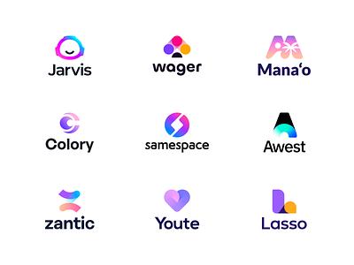 Logofolio 2d letters monogram branding and identity identity finch branding tech digital saas branding identity branding logo branding