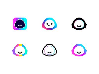 Jarvis | Logo options unused explore logo design branding help chat gradient colors 2d logotype head robot head logo robot graphic design logo branding