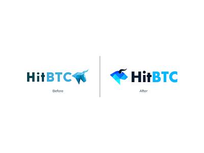 HitBTC   Logo concept cryptocurrency branding and identity logo logotype logo identity triangle logo head logo ox logo bull logo crypto identity logo design branding identity branding logo design branding