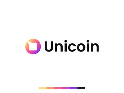 Unicoin | Unused logo design identity design saas tech digital unicorn crypto coin logo logo logotype illustration design branding and identity logo design branding identity identity branding logo design branding
