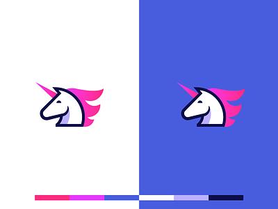 Friday Unicorn 🦄 2d startup tech saas logotype illustration design branding and identity gradient head logo horse logo unicorn logo logo design branding identity identity branding logo design branding