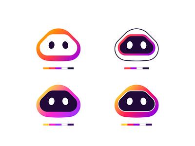Otto | Squad of robots gradient head logo robot logo robot logo illustration logotype design branding and identity logo design branding identity identity branding logo design branding