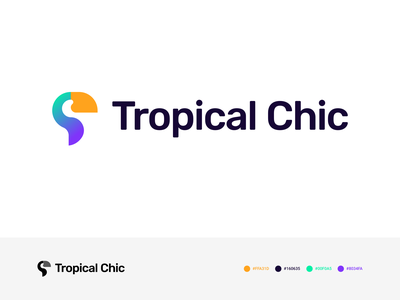 Tropical Chic | Logo WIP identity branding gradient 2d design logo design typography olegcoada clothes brand tropical toucan logotype logo identity branding fashion logo tropical branding toucan logo