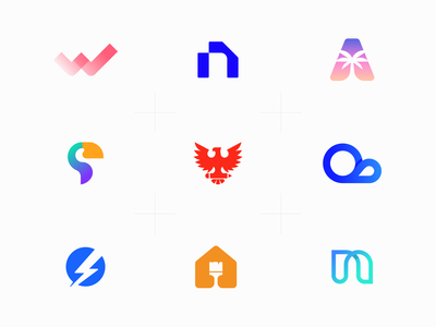 Top 9 | 2019 logodesign logo design branding design gradient identity branding brand identity 2d branding logotype logo design top9 logofolio logo