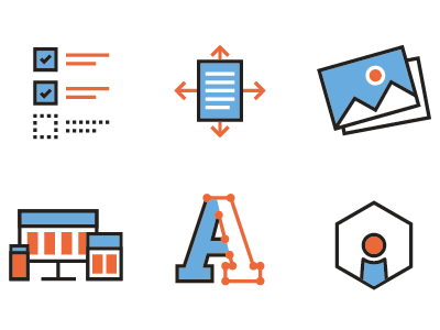 New Icons for our Portfolio line icon simple illustrator ui webdesign graphic design icons icon set