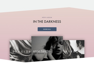 Music section on artist homepage music css html webflow webdesign
